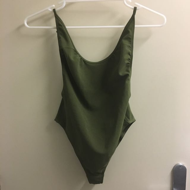 Khaki low back bodysuit