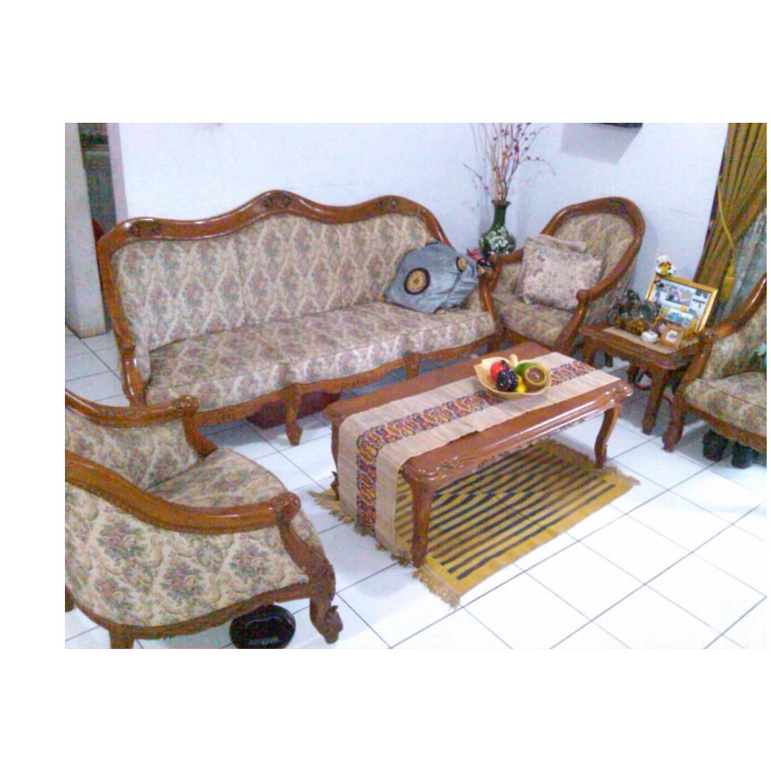 Kursi Sofa Jati Asli Home Furniture On Carousell