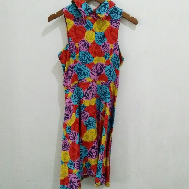 Le Mille Colorful Floral Dress