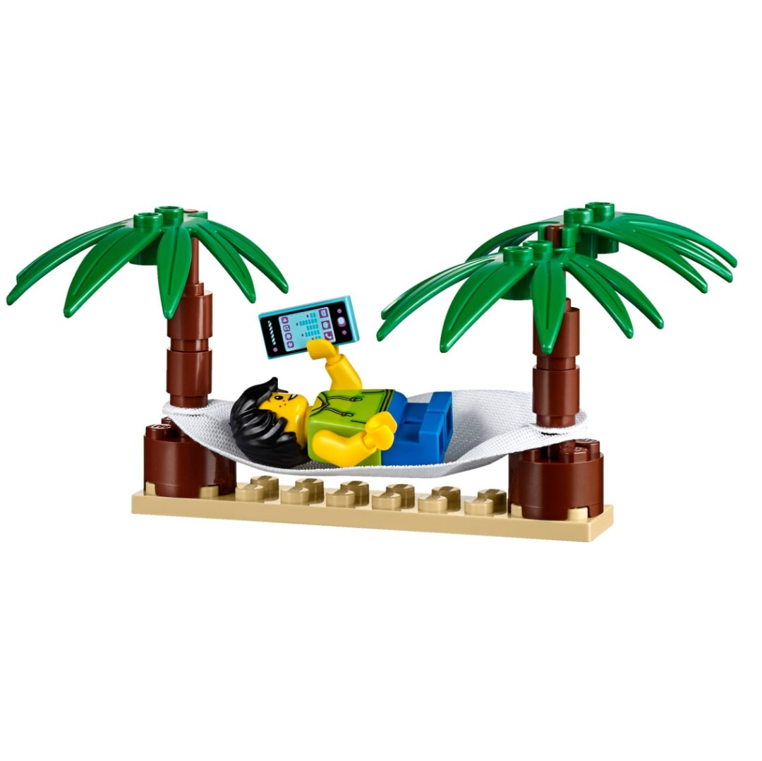 Lego Minifigure City 60153 Boy With Mp3 Player Trees With