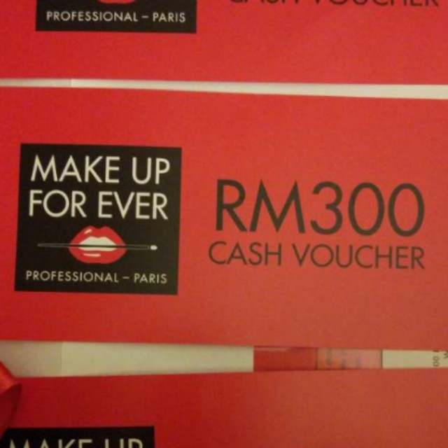 Make Up For Ever RM300 voucher