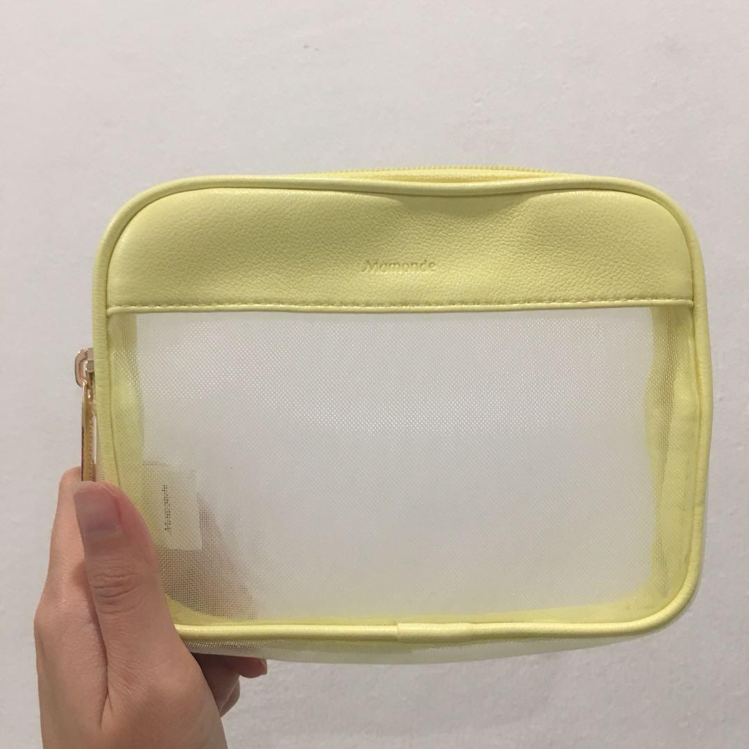 Mamonde Mesh Transparent Makeup Cosmetics Beauty Pouch Bag