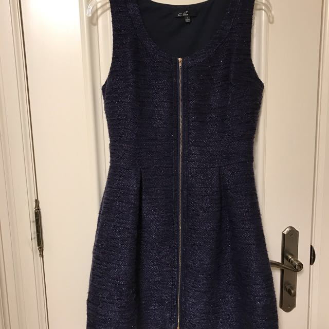 Mendocino Zip Up Navy Dress