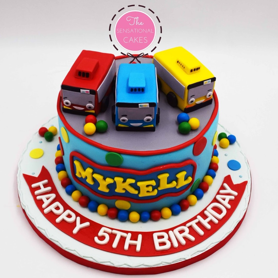 Michael 5th Birthday Bus Cake Singapore Tayo Children SingaporeCake Food Drinks Baked Goods On Carousell