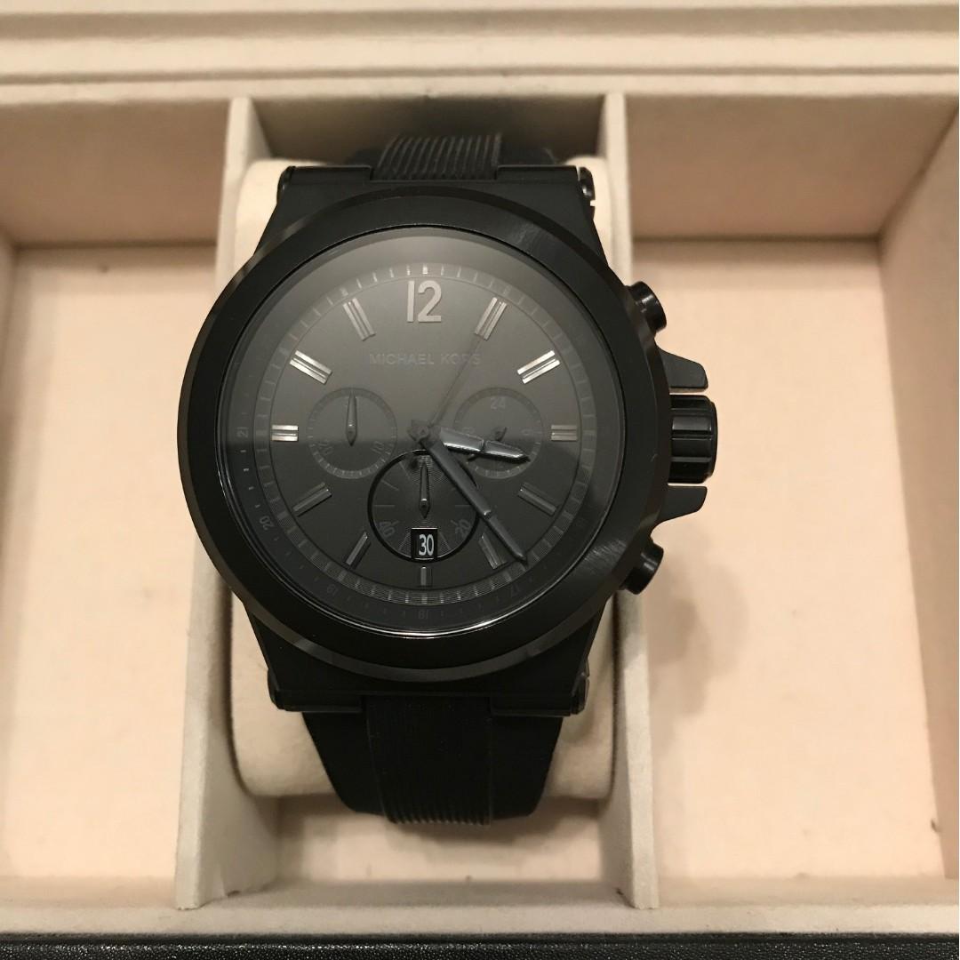 39fee63aa520 Michael Kors MK Men s Dylan Black Silicone Strap Chronograph Watch - MK8152