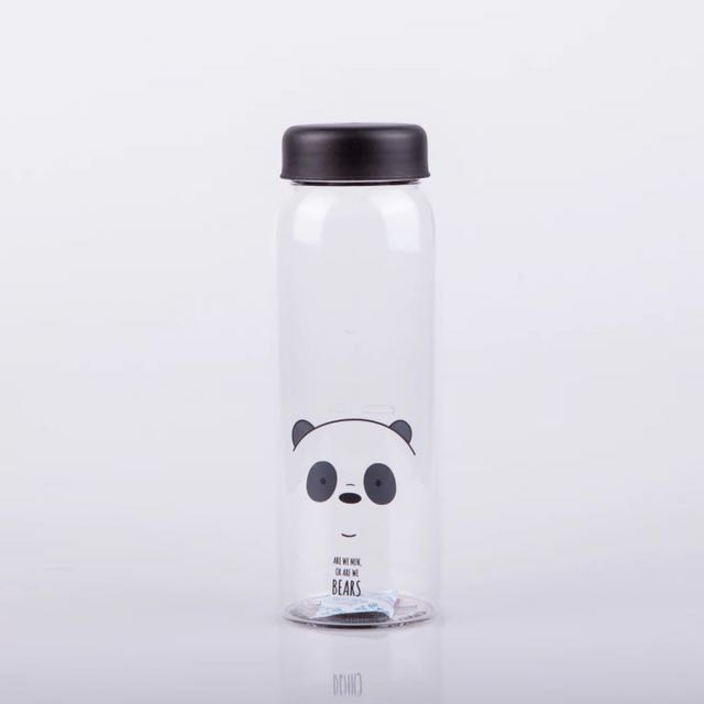 a2449fd536 Miniso We Bare Bears Glass Bottle, Home Appliances on Carousell