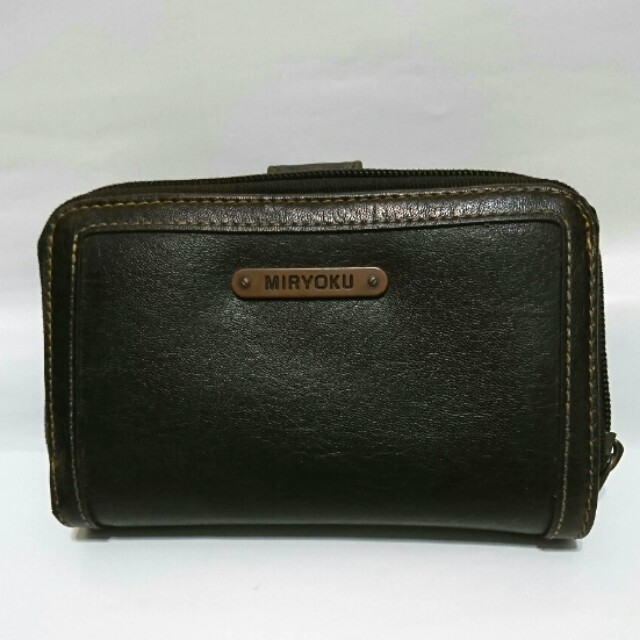 MIRYOKU 皮夾包(深咖啡色)