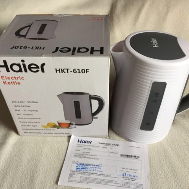 NEW Haier Electric Kettle 1.7L