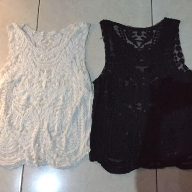 New! Sisa butik! Crochet blouse