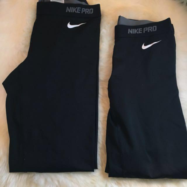Nike Pro Leggings 30$ for both
