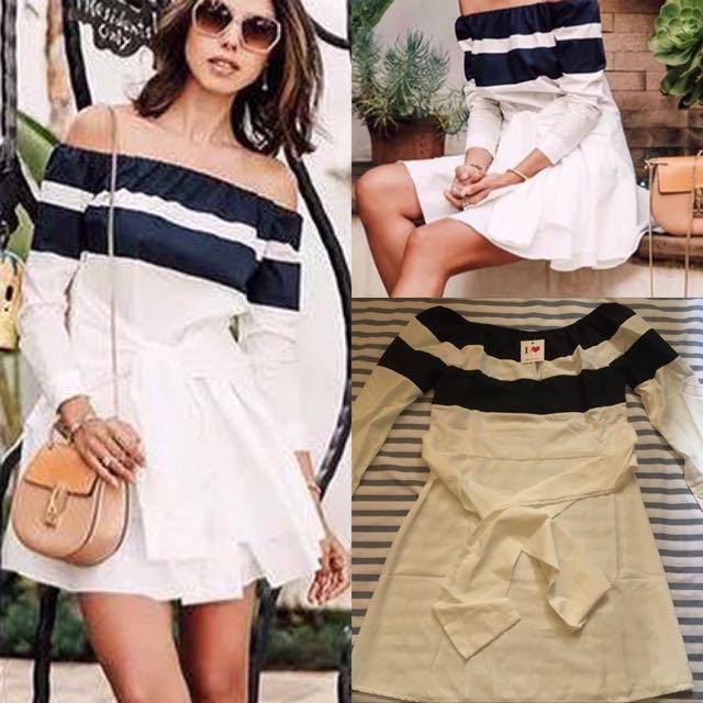 Off shoulder dress( super nice actual item)