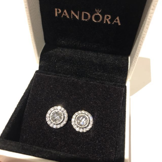 Pandora Sparkling Silver Earrings