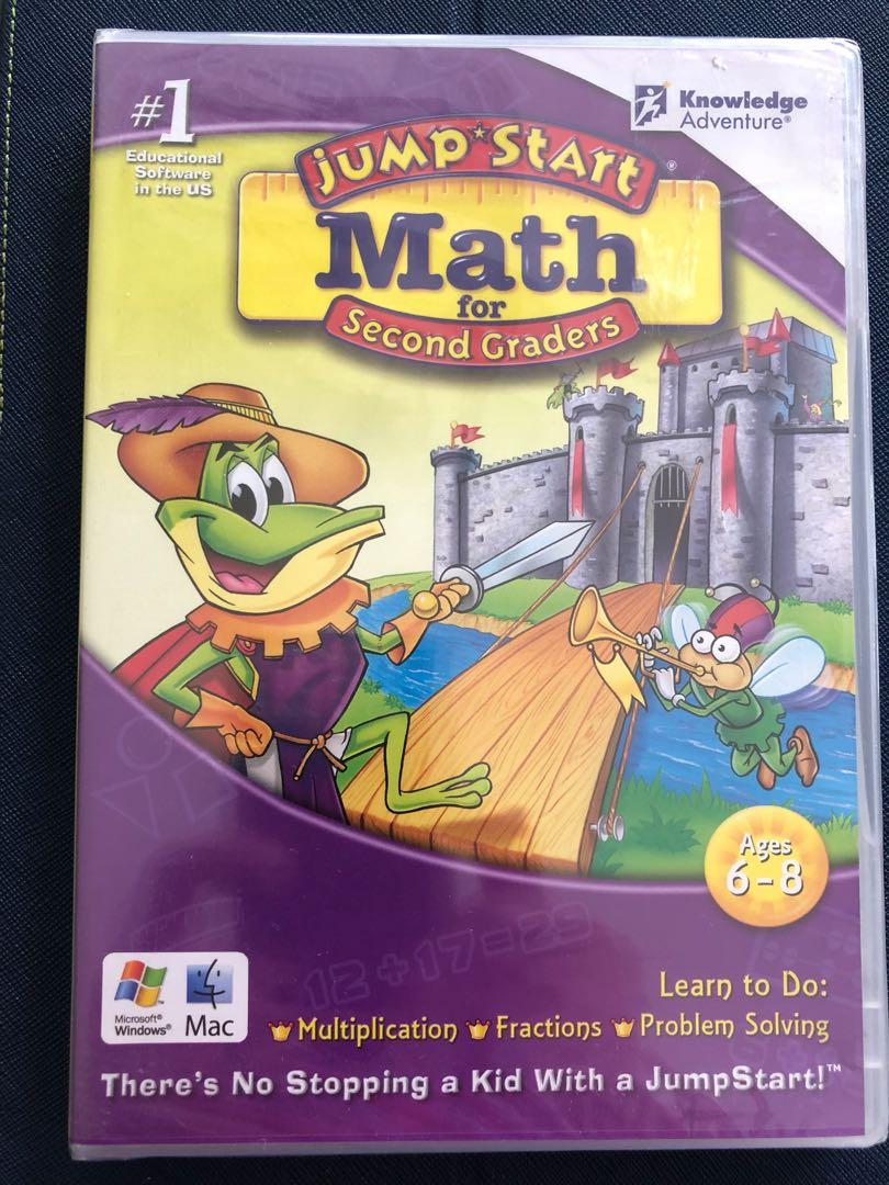 PC/MAC CD-ROM Jumpstart Math & Junior Brain Train Logic Games