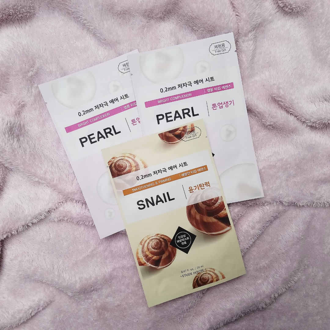 Pearl and Snail Masks