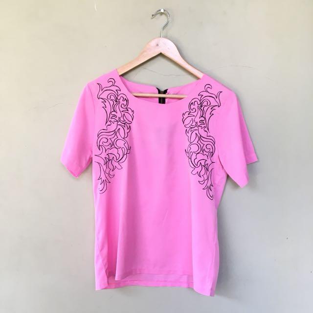 Pink Bordir Blouse