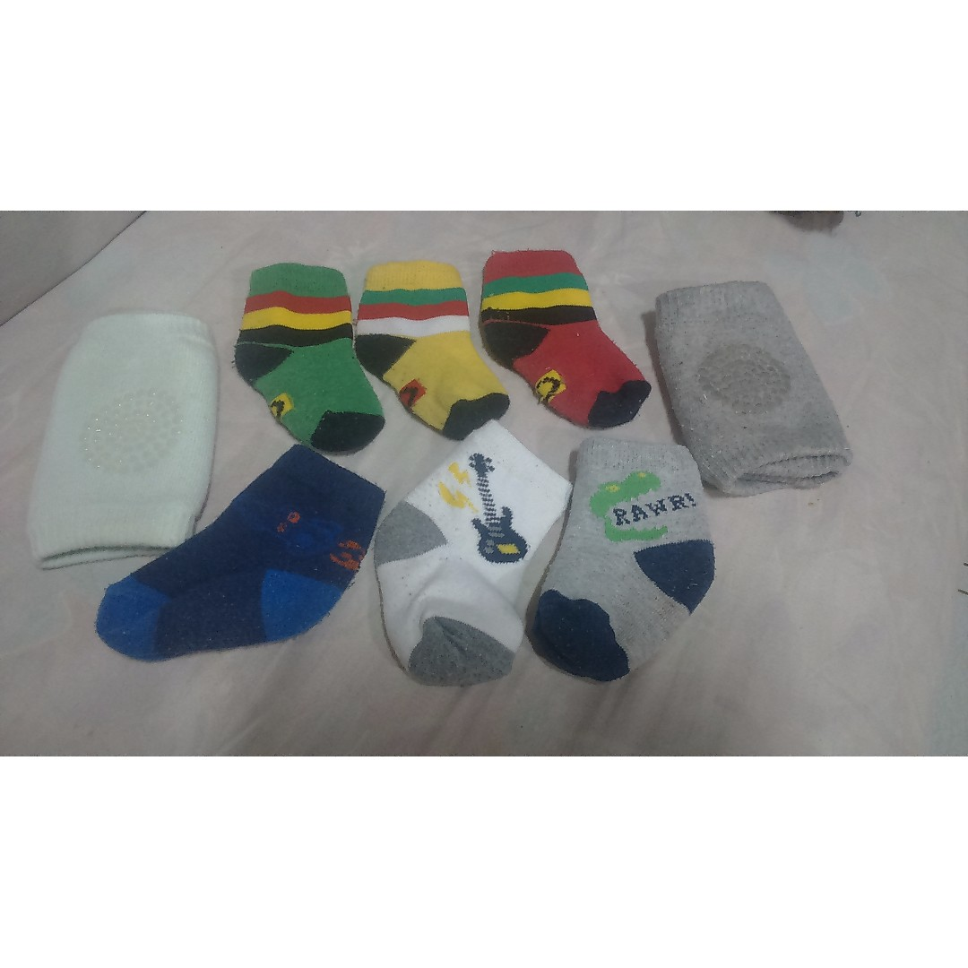 Pre loved socks and knee pads for boys