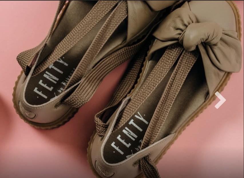 Puma X Fenty Rihanna Bow Creeper Sole Sandals, size 7.5