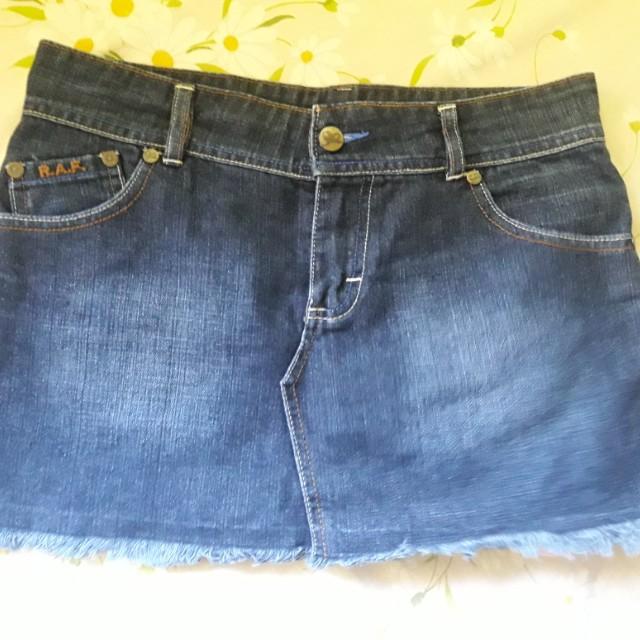 R.A.F Denim Plains & Prints Skirt