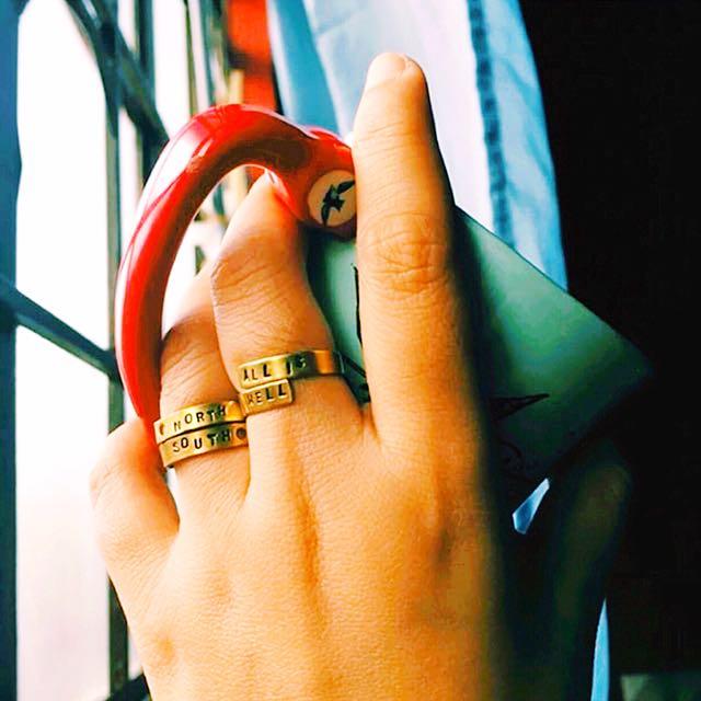 Raw Brass Spiral Ring (Customized)
