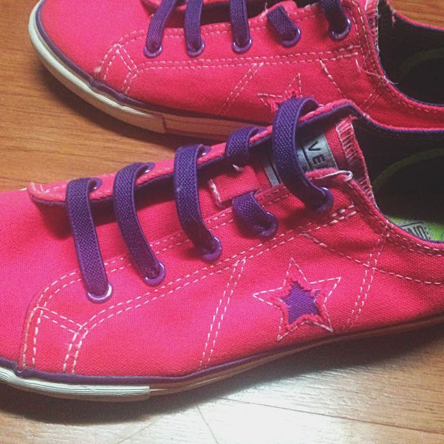 Repriced Hot Pink Converse Sneakers