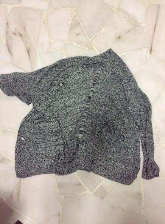 SALE ✨Grey Grainy Basic Knit Cardigan Outerwear Office