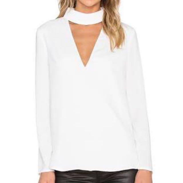 Say It Right Long Sleeve Top Ivory C/MEO Collective
