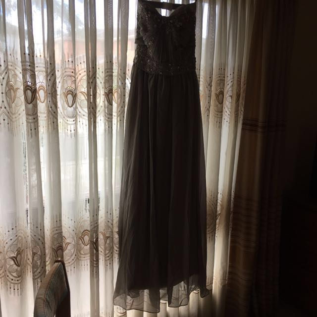 Silver Grey Formal Gown
