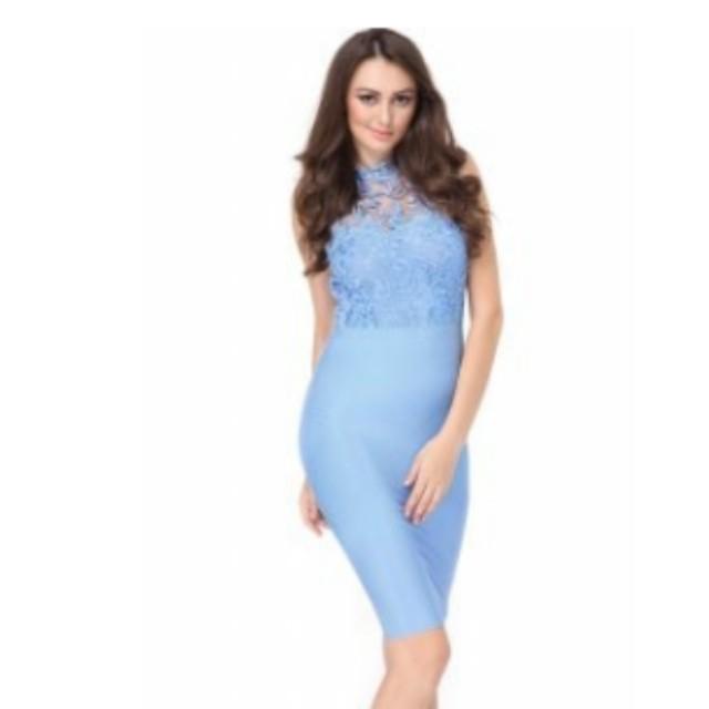 Sky Blue Bodycon Dress