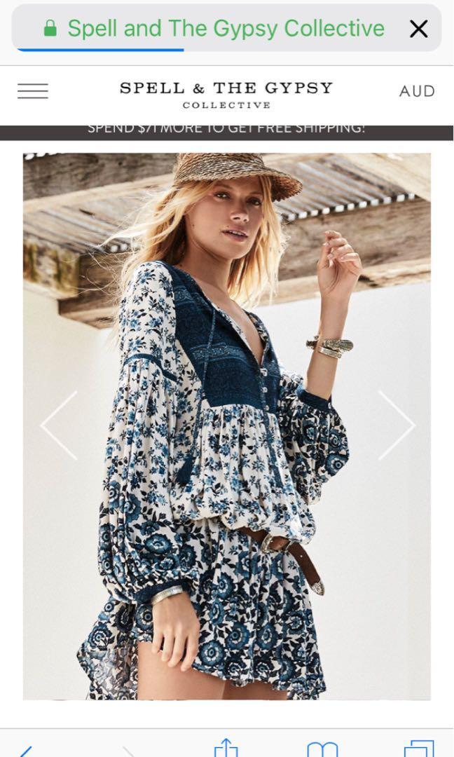 💕Spell Designs Elle Boho Dress 🌿 Xxs rrp $229