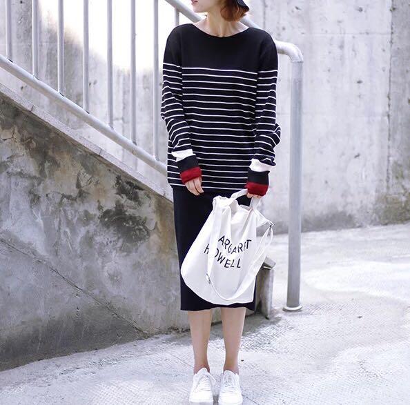 Stripe knittop