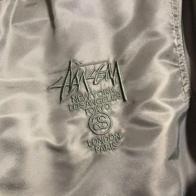 Stussy 電繡logo鋪棉軍綠MA1