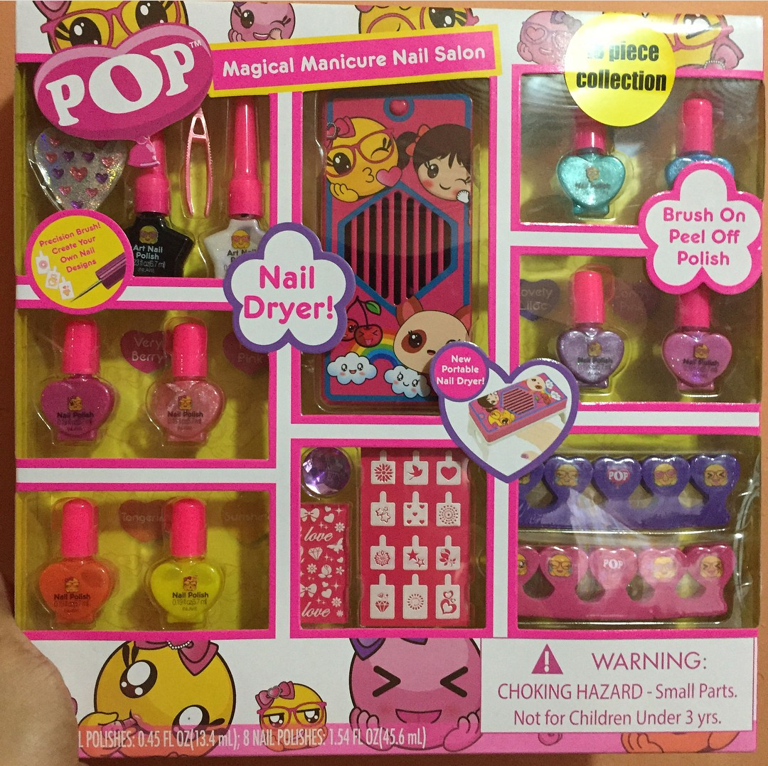 Super cute nail salon kit for kids (peelable), Babies & Kids, Toys ...