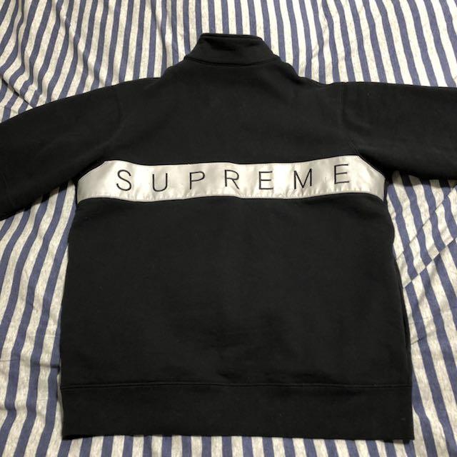 Supreme 2 tone 3m reflective half zip sweatshirt 反光半開襟厚長tee