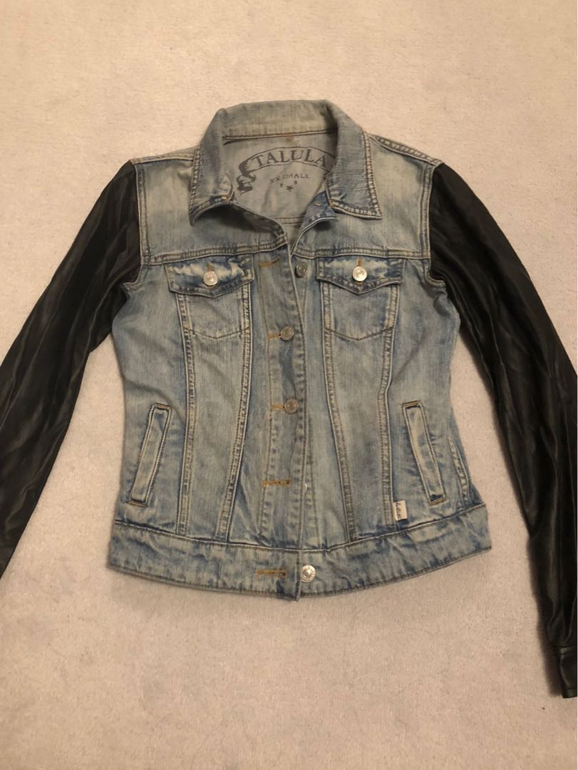 Talula Jean Jacket with Leather (faux) sleeves