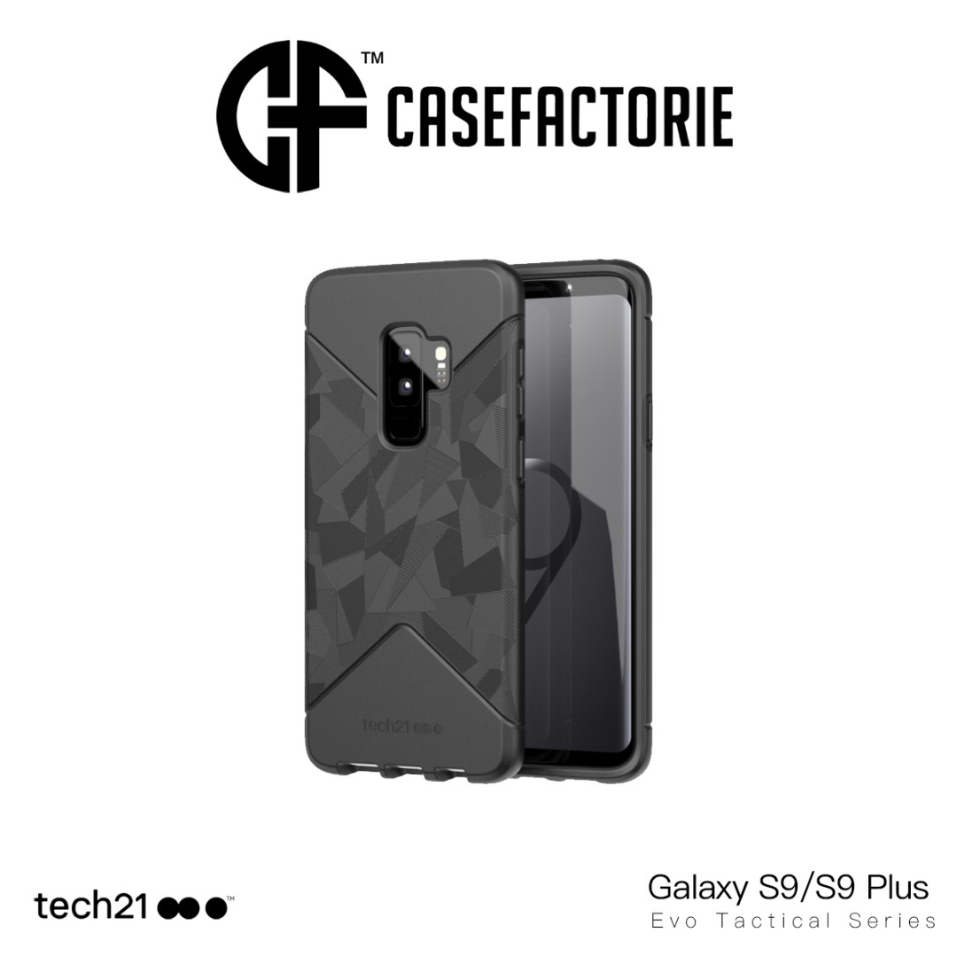 new product 3bdf0 0ca79 Tech21 Evo Tactical Case for Samsung Galaxy S9/S9 Plus