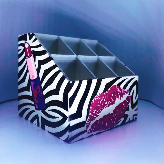 Tempat Lipstick Acrylic Motif