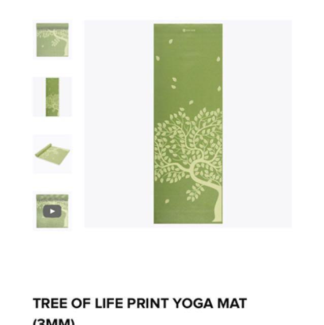 Tree of life yoga mat
