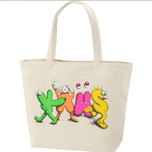 Uniqlo x kaws Original fake tote bag 全新 吊牌已拆