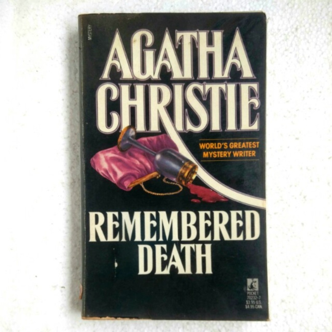 (vintage book) Remembered Death by Agatha Christie
