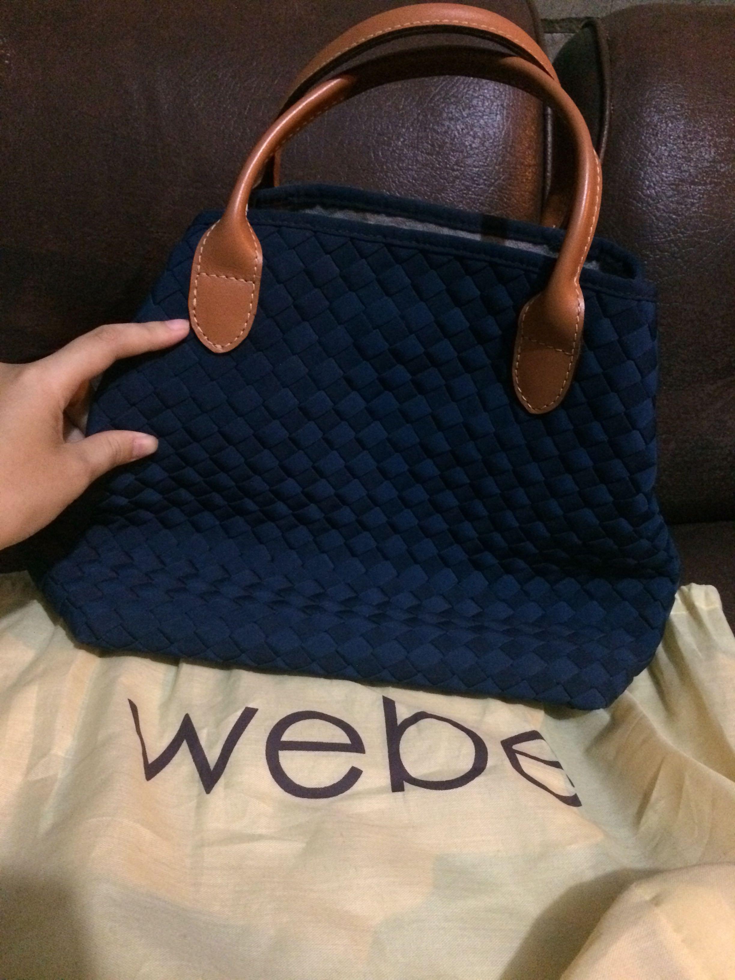 Webe bag / tas webe malvina victorian blue original
