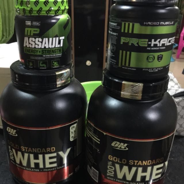 Whey Protien and Pre workout supplement
