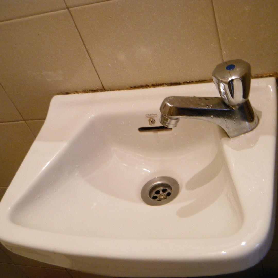 White Ceramic Vanity Sink with Faucet - Garden/Toilet/Backyard ...