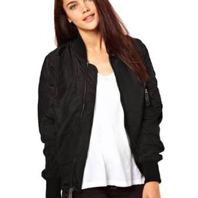 Women's black bomber jacket rrp 80