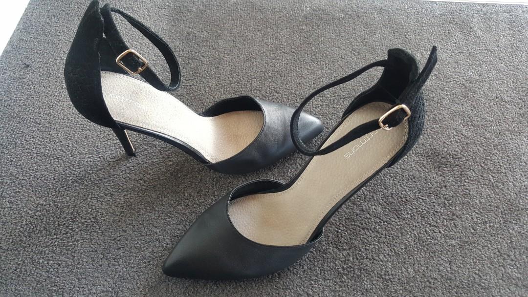 Womens portmans heels black 40 8.5
