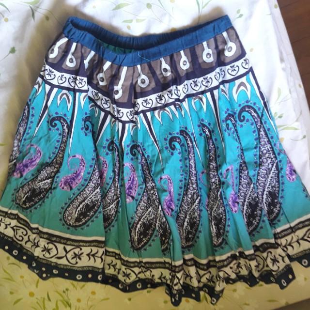 Womens Skirt Knee Length