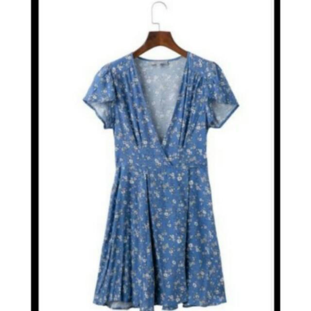 Wrap around dress/free size