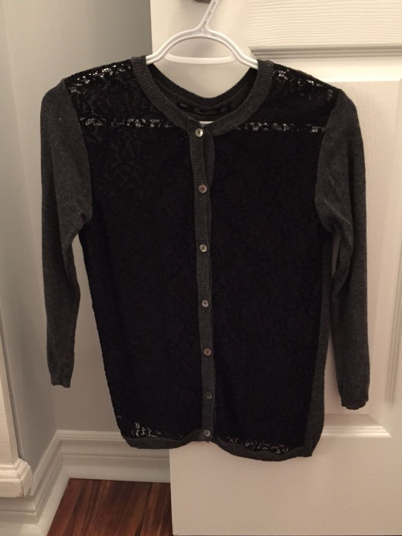 Zara Cardigan with lace front - Medium