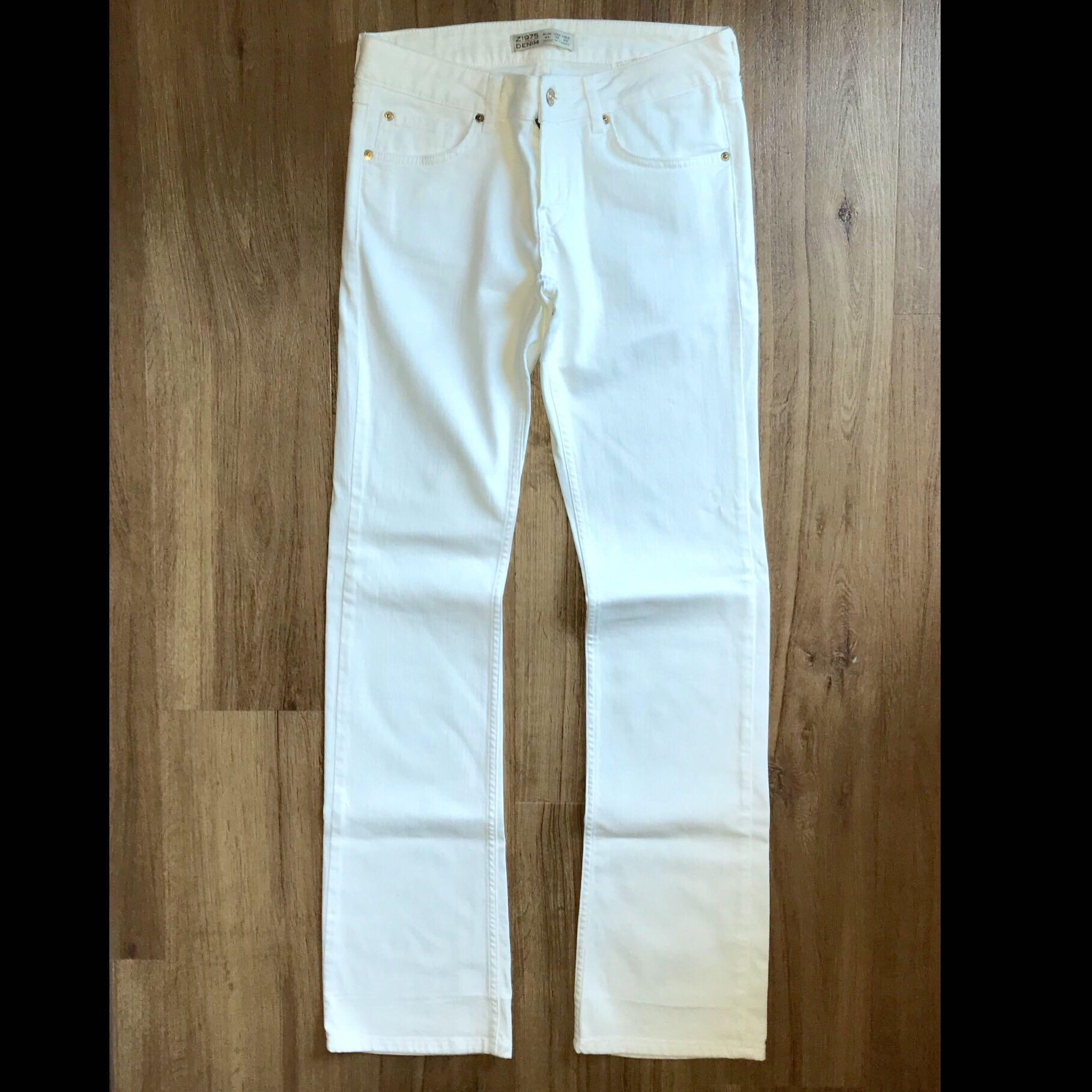 159374c0 Zara White Jeans Size EUR 40, Women's Fashion, Clothes, Pants, Jeans ...