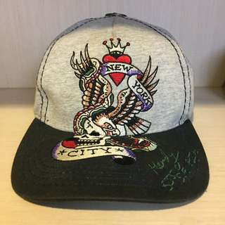 🚚 Ed Hardy 刺繡老鷹帽 老帽 後扣帽 棒球帽 Snapback Dad Hat#手滑買太多
