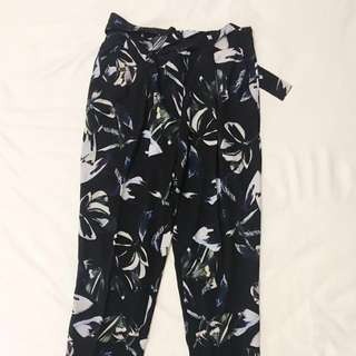 Relaxed Mango Printed Waisted Pants - EURO M